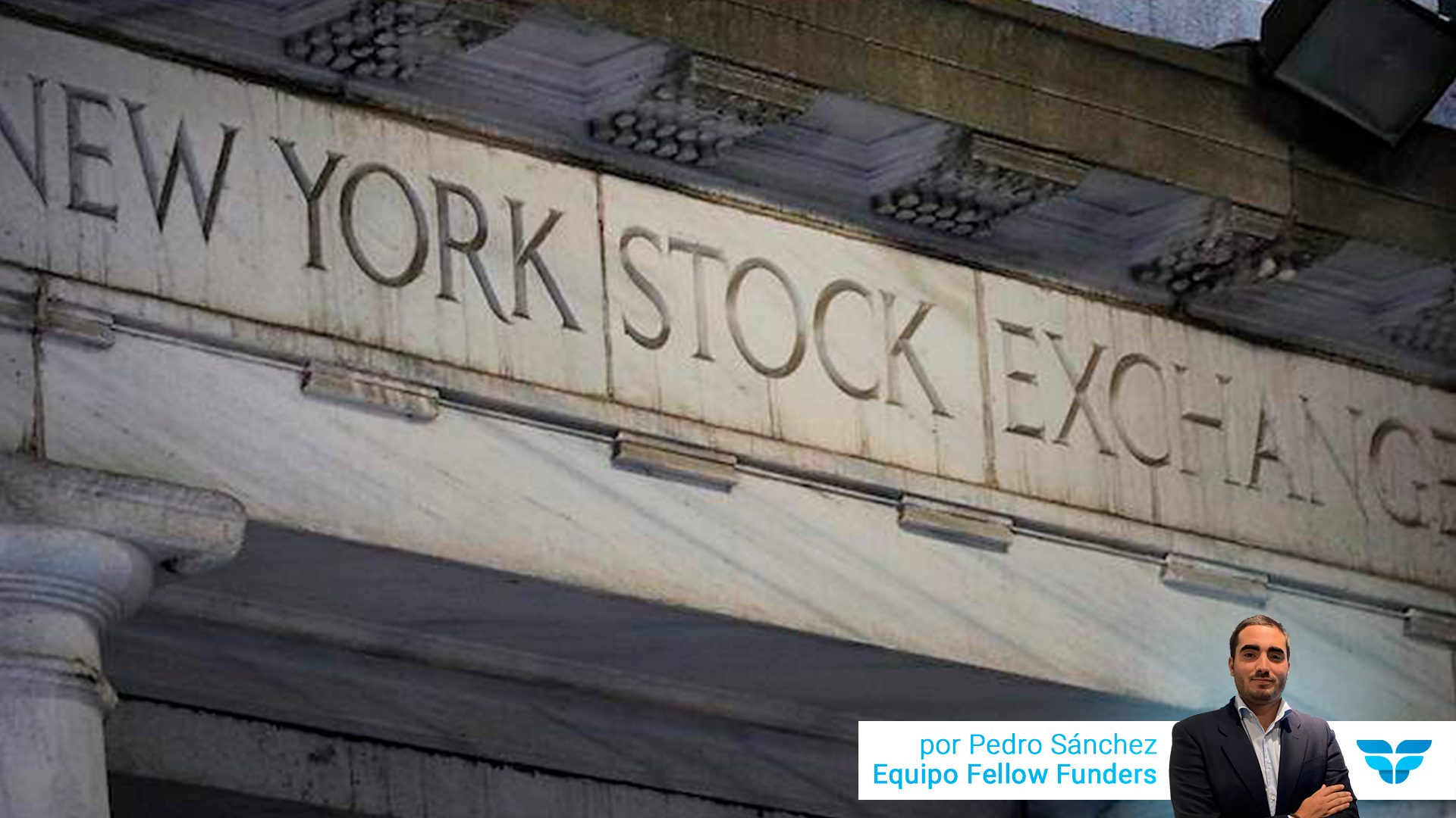 Muro con letras de New Stock Exchange